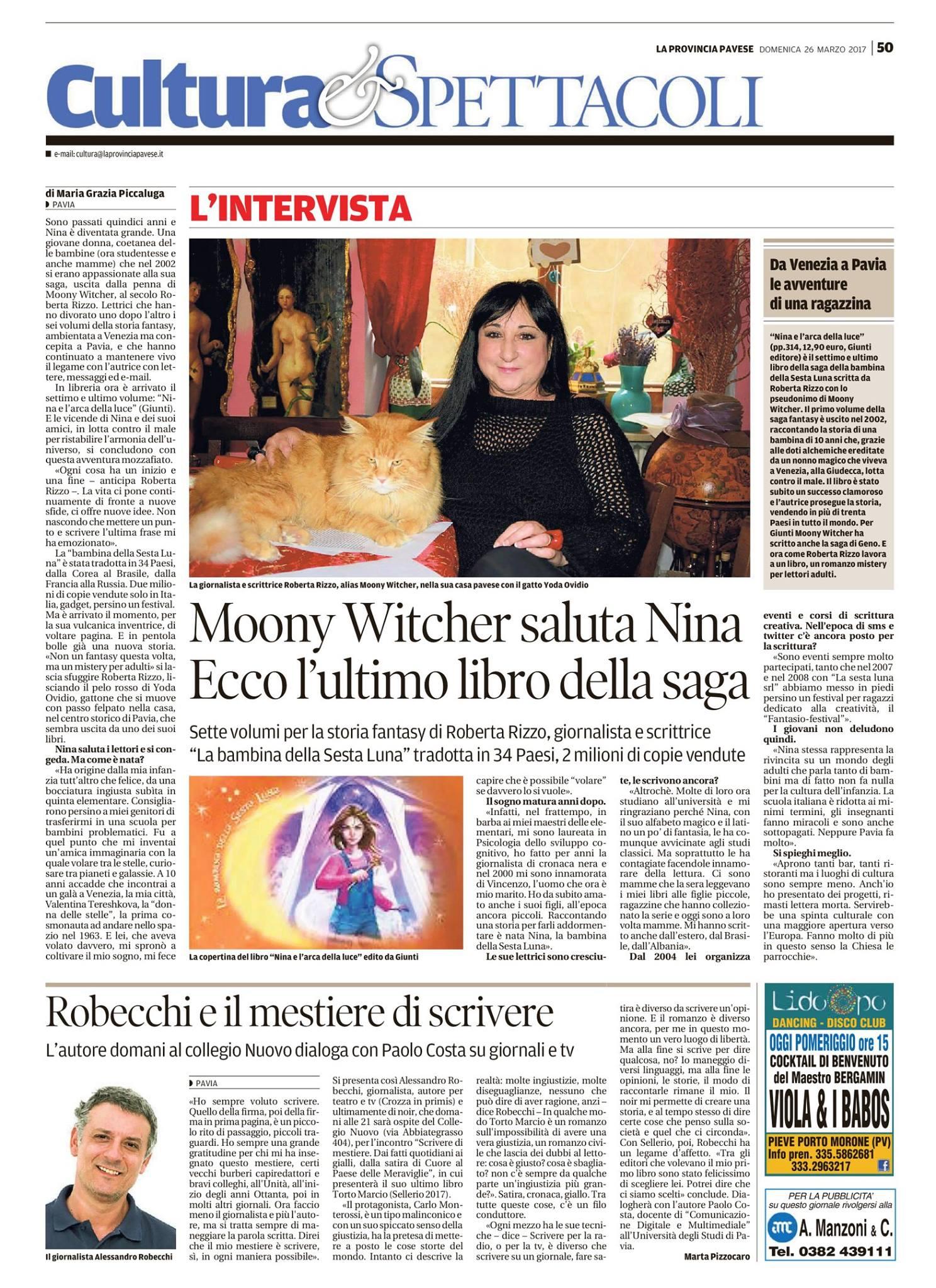 intervista a Moony Witcher su la Provincia Pavese