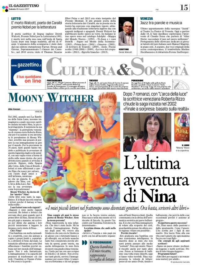 articolo su Il Gazzettino 2017